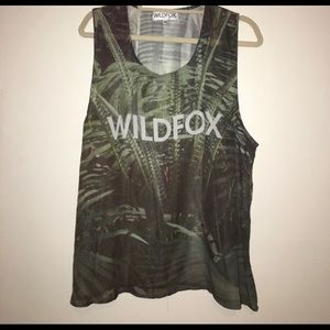 Wildfox Sheer Jersey Style Tank